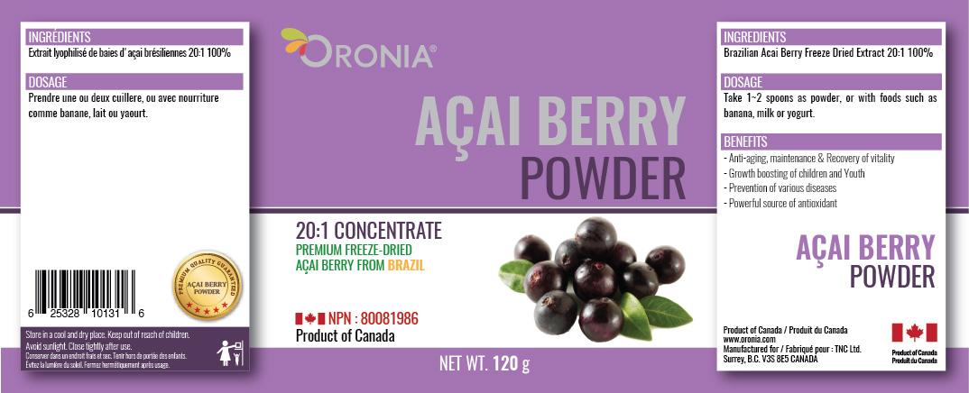 piniks.com, [Oronia] Acai Berry Powder