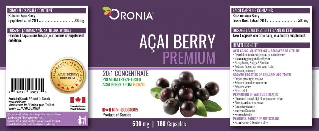 piniks.com, [Oronia] Acai Berry Premium 20:1