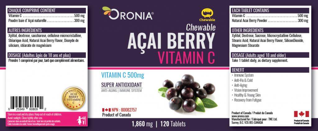 piniks.com, [Oronia] Acai Berry Vitamin C