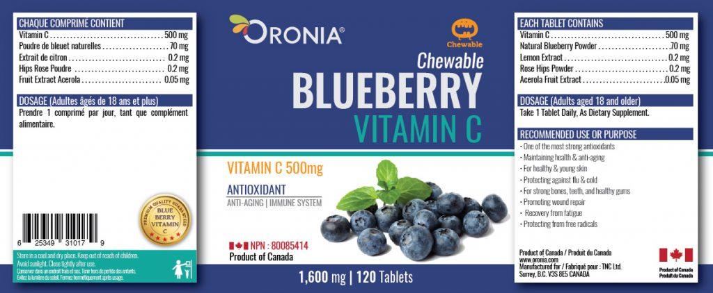 piniks.com, [Oronia] Blueberry Vitamin C