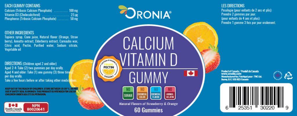 piniks.com, [Oronia] Calcium & Vitamin D Gummy