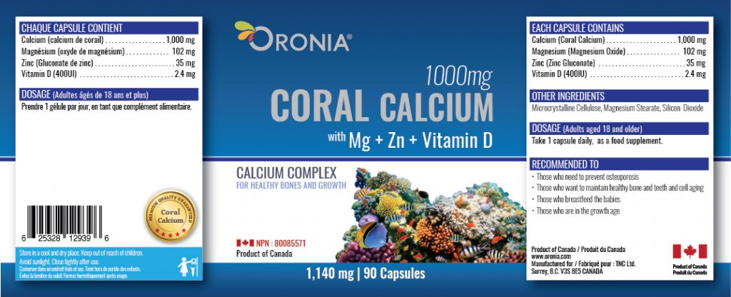 piniks.com, [Oronia] Coral Calcium -Mg & Zn-